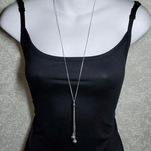 Argento Vivo Sterling Silver Y-Drop Necklace